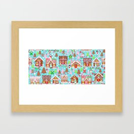 Gingerbread House Christmas Winter Candy, sweets.christmas gift, holiday gift for kids of all ages, Framed Art Print