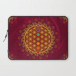 FLOWER OF LIFE, CHAKRAS, SPIRITUALITY, YOGA, ZEN, Laptop Sleeve