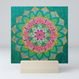 Pink Flower Mandala Mini Art Print