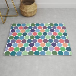 Multicolored Circles Rug