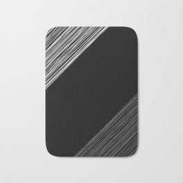 Black white pattern 4 Bath Mat