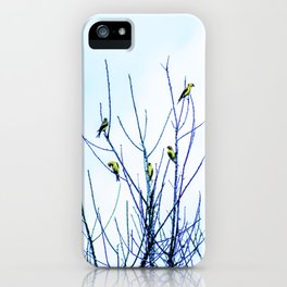 Goldfinches in a Tree iPhone Case