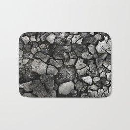 Broken Black Stone Bath Mat
