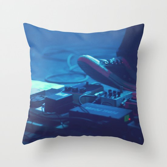 Stompboxes (Indie rock music concert, Stumping on effects pedals) Throw Pillow