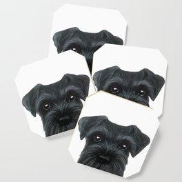 New Black Schnauzer, Dog illustration original painting print Coaster