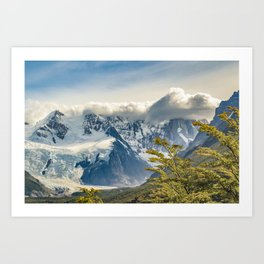 Snowy Andes Mountains, El Chalten Argentina Art Print