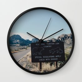Chisos Country Wall Clock
