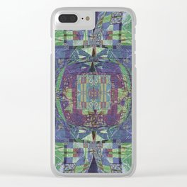 Geometric Futuristic Quilt 2: Calm Surrender Clear iPhone Case
