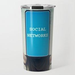 Social networks addiction Travel Mug