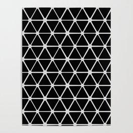 HEX - black & white Poster