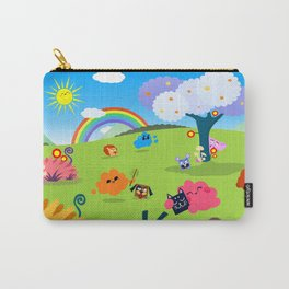 Happy Colorful Planet 02 Carry-All Pouch