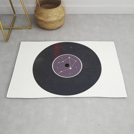 Vinyl Record Star Sign Art | Libra Rug