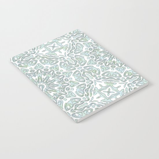Turquoise teal ornamental pattern Notebook