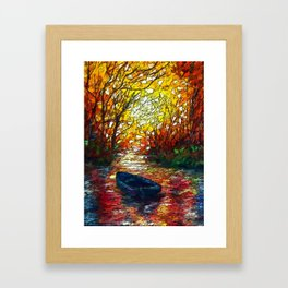 OLena Art, sunset, landscape, artwork, artistic, impressive, illustration, painting, sceni OLena Art Framed Art Print