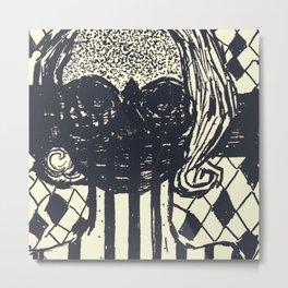Masque Metal Print