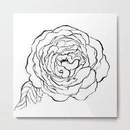 Rose Ink Drawing Metal Print