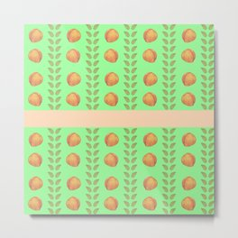 Mint and Peaches Metal Print
