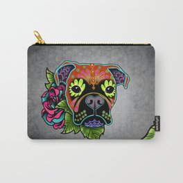 Boxer in Fawn - Day of the Dead Sugar Skull Dog Carry-All Pouch
