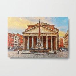 The Roman Pantheon Metal Print
