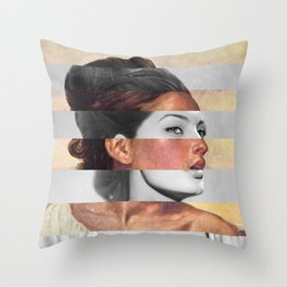 Delacroix's Orphan Girl at the Cemetery & Sophia Loren Throw Pillow