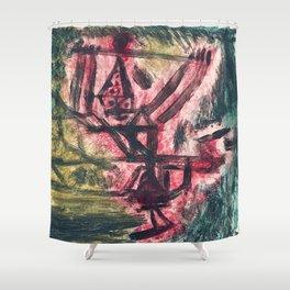 Feuer Clown I (Fire Clown), (1921) by Paul Klee Shower Curtain