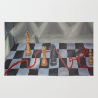 chess Area & Throw Rugs featuring Chess by Lark Nouveau Studio