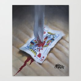 DEATH TO THE KING Canvas Print