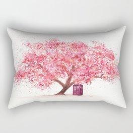 Tardis Tree Art Blossom Rectangular Pillow