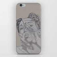 fka twigs iPhone & iPod Skins featuring FKA by Ous Art