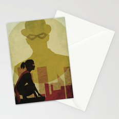 Who is the man in the bowler? Superheroes SF Stationery Cards