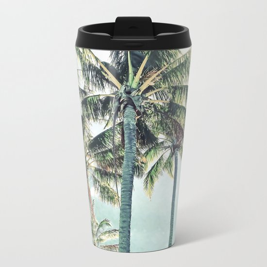 Under the palms Metal Travel Mug