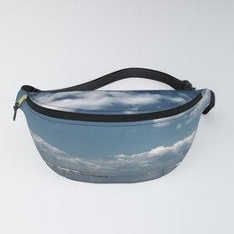 Beautiful blue sky over the Gulf of Finland Fanny Pack