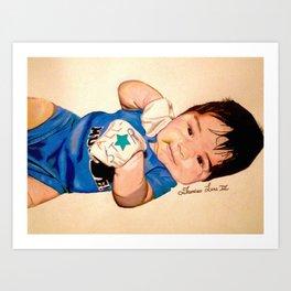 Baby Portrait Art Print