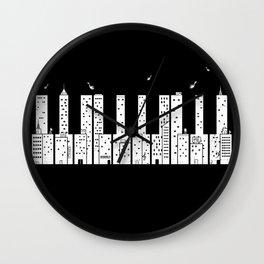 Piano Skyline Wall Clock