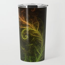 Fractal Hybrid of Guzmania Tuti Fruitti and Ferns Travel Mug