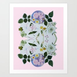 Flower Moon Art Print