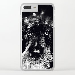 wire haired dachshund dog wsbw Clear iPhone Case