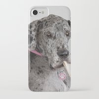 great dane iPhone & iPod Cases featuring Great Dane by Deborah Janke