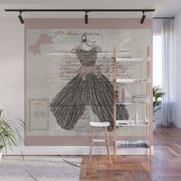 Blush Fancy Dress Wall Mural