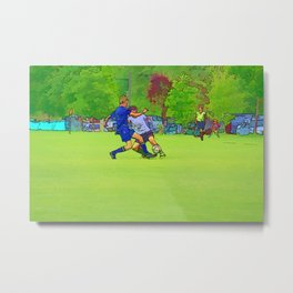 The Big Steal - Soccer Players Metal Print