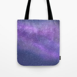 Deep Purple Milky Way Stars Tote Bag