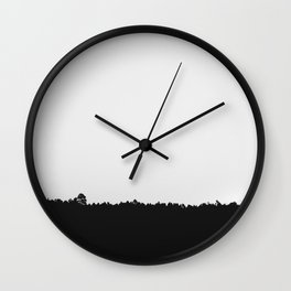 black and white 58 Wall Clock