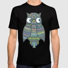 Whoo Me? Mens Fitted Tee Black SMALL