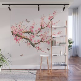 Pink Cherry Blossom Dream Wall Mural
