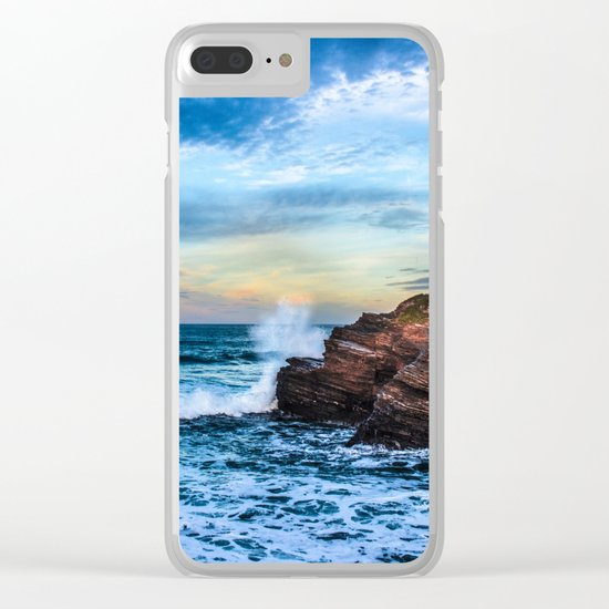 The surf Clear iPhone Case