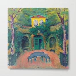 """Koloman Moser """"Yellow house in a landscape"""" Metal Print"""