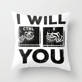 Computer Pun CTRL Delete You IT Computer Geek Throw Pillow