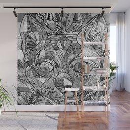 Kitty Face Wall Mural