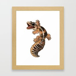African Fat-Tail Gecko Framed Art Print