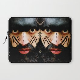Colombian Tribal Bear Mark Of Courage by Wendy C Vega Laptop Sleeve